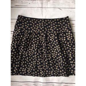 Madewell silk skyline stencil blossom skirt size 8